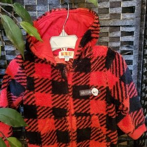 Fleece plaid Hoodie